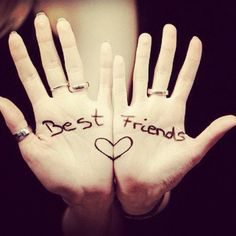 bff hands - could also do bride/groom, wife/husband, the date... many possiblities