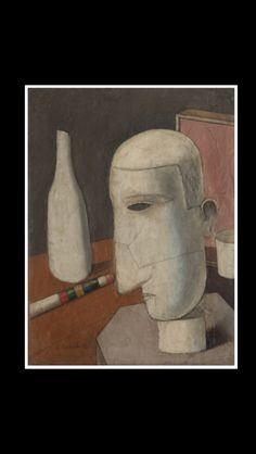 "Carlo Carrà - "" Gentiluomo Ubriaco (The Drunken Gentleman) "", 1916 - Oil on canvas - 60 x 45 cm"