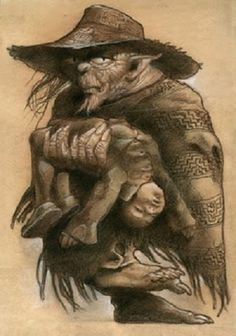 El Pombero o Pomberito es un personaje multifacético de la mitología guaraní. Pombero es un duende antropomorfo, un hombre, feo, más bien bajo, fornido, retacón, moreno, con manos y pies velludos, cuyas pisadas no se sienten, talvez un indio Guaikurú. Lo describen también andrajoso, cubierto con sombrero de paja y con una bolsa al hombro. Habita en el bosque o en casas o rozados abandonados, en taperas. Anda de noche, viajando por todas partes.