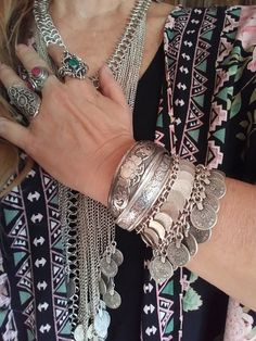 Turkish coins move and jangle on this sliver overlay bracelet. This is so fun to wear!
