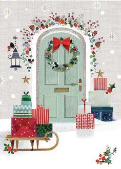 Leading Illustration & Publishing Agency based in London, New York & Marbella. Christmas Tree Scent, Christmas Scenes, Christmas Mood, Noel Christmas, Vintage Christmas Cards, Christmas Design, Christmas Pictures, Christmas Projects, Christmas Greetings