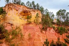 The cliffs of Roussillon, France, are home to the largest ochre deposit in the world. They are a main attraction in this tiny Provencal village.