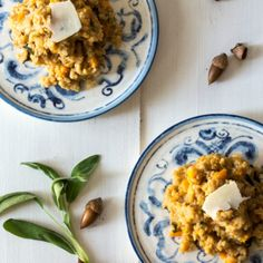 Butternut Squash Risotto With Pears and Sage.