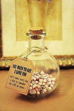 Message in the bottle ,101 Way to say love valentine gift for him/her special !! in Collectibles, Holiday & Seasonal, Valentine's Day | eBay