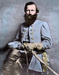 """General Stuart Civil War James Ewell Brown """"Jeb"""" Stuart (February 1833 – May was a U. Army officer from Virginia and a Confederate States Army general during the American Civil War. American Civil War, American History, Confederate States Of America, Confederate Monuments, Union Army, Civil War Photos, Us History, History Pics, Family History"""