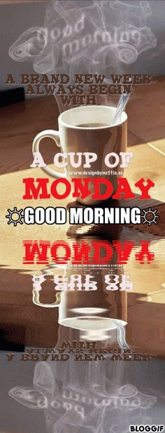 ♥A brand NEW WEEK  ALWAYS begin with A CUP of MONDAY♥  Yepp... a NEW WEEK and a BRAND new #monday  have arrived to us!   #goodmorning #monday #mondaymotivation #mondaymorning #mondayinspiration #designbynettis #coffee   https://plus.google.com/u/0/110820088162597041980/about https://twitter.com/designbynettis http://instagram.com/designbynettis http://designbynettis.blogspot.se/2014/02/a-brand-new-week-always-begin-with-cup.html https://www.facebook.com/DesignByNettis