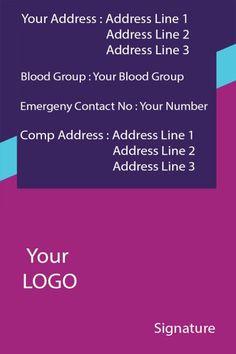 ID Card twentyone Back Id Card Template, Card Templates, Identity Card Design, Free Id, Blood Groups, Manish, Baby Boy Fashion, June, Photoshop