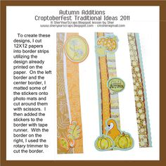 Sher Your Scraps: Autumn Additions - Designs Galore