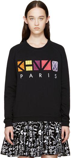 Kenzo: Fuchsia Geometric Logo Sweatshirt