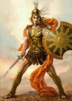 The warrior and the legend. Immortalized hero of the great Trojan war. Greek Warrior, Fantasy Warrior, Greek History, Ancient History, Aphrodite, Character Inspiration, Character Art, Greek Mythology Art, Greek Art