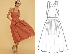 Картинки по запросу выкройка летнего платья с запахом