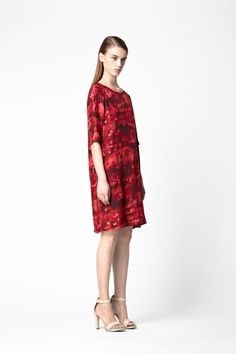 Printed silk dress  - COS
