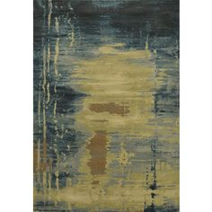 Power-loomed Abstract Beige Rug (3' x 5')