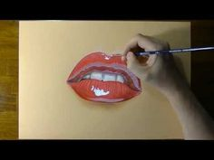 This is just AMAZING! How to Draw a female mouth with cute red lips World Bodypainting Festival, Hyper Realistic Paintings, Spray Paint Art, Color Pencil Art, Eye Art, Crayon, Red Lips, Art Tutorials, Body Painting