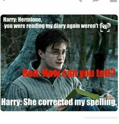 """16 Hermione Memes Only True 'Harry Potter' Fans Will Appreciate That would be me! 😂 I quote : """"How come you're not in Ravenclaw, with brains like yours?"""" The post 16 Hermione Memes Only True 'Harry Potter' Fans Will Appreciate appeared first on Welcome! Arte Do Harry Potter, Harry Potter Puns, Harry Potter Universal, Harry Potter World, Harry Potter Funny Quotes, Harry Potter Things, Humor Videos, Memes Humor, Funny Memes"""