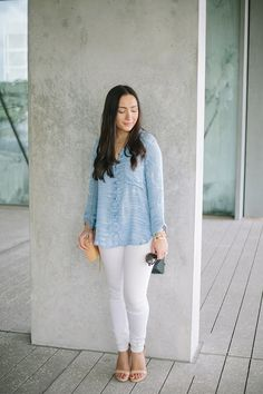 White skinny jeans - the best option for summer and only $85