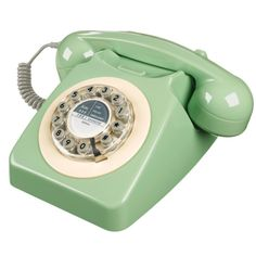 WILD & WOLF 746 Corded Phone - Swedish Green Features retro push button dial. Colour Swedish Green.185 x275 X 165 Limited stock Please contact us here at Find at findshoponline@gmail.com for shipping/postal quotes before ordering online, thank you
