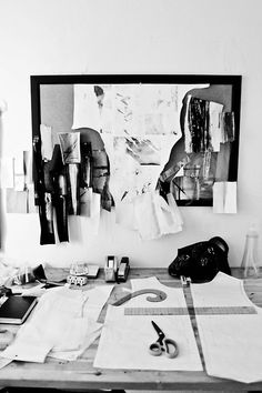 Fashion Design Studio - fashion designer's workspace; fashion design behind the scenes