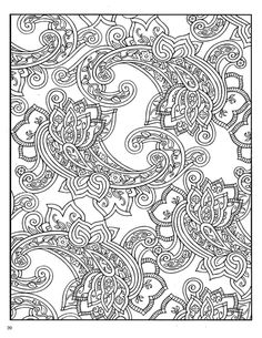 paisley Coloring Pages | Paisley Designs Coloring Book (Dover Coloring Book)_Page_22 (541x700 ...