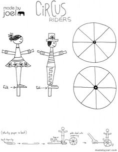 Made by Joel Circus Riders Kids Craft Template