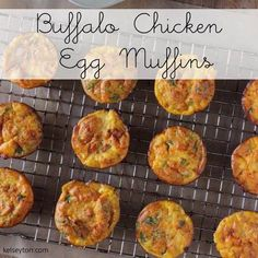 Easy Buffalo Chicken Egg Muffins! Paleo, Sugar Detox, & 21 Day Fix approved!