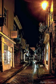 The Shambles in York, North Yorkshire, England.