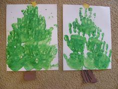 Handprint Christmas Treeu0027s (my 6 U0026 4 Year ...