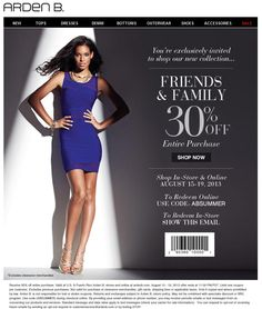 Pinned August 15th: 30% off the tab at Arden #B., or online via promo code A#BSUMMER #coupon via The Coupons App