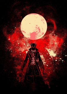 Blood Hunter Art detailed, premium quality, magnet mounted prints on metal designed by talented artists. Dark Blood, Old Blood, Blood Moon, Dark Souls Art, Dark Art, Blood Wallpaper, Blood Hunter, Bloodborne Art, Soul Game