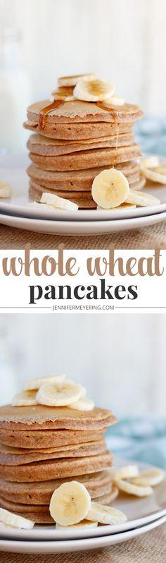 Whole Wheat Pancakes - JenniferMeyering.com