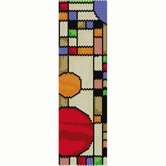 Geometric 15 Peyote Bead Pattern Bracelet Cuff by SmartArtsSupply
