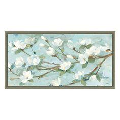 ''Magnolia Branch'' Framed Canvas Wall Art by Albena Hristova