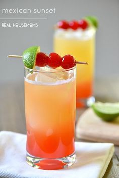 Mexican Sunset is a gorgeous tequila cocktail perfect for Cinco de Mayo, or…