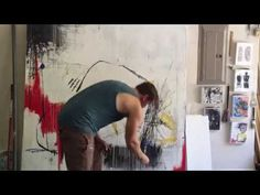 Artist Painting: Acrylic and Oil Sticks on Canvas - YouTube