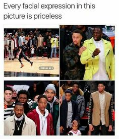 Lol i like the bottom right pic where he is bout to squeeze the little boys head haha Nba Funny, Really Funny Memes, Stupid Funny Memes, Funny Tweets, Funny Relatable Memes, Funny Cute, Funny Posts, Hilarious, Pranks