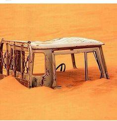R.I.P. Toyota Land Cruiser FJ45 buried in sand