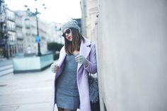 The Fashion Through My Eyes / Purple on grey //  #Fashion, #FashionBlog, #FashionBlogger, #Ootd, #OutfitOfTheDay, #Style