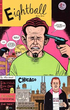 Eightball Featuring Art School Confidential by Daniel Clowes - In Color Retro Illustration, Illustrations, Daniel Clowes, Love And Rockets, Ghost World, Velvet Glove, Alternative Comics, Iron Art, Comic Panels