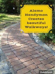 We create beautiful walkways!! #handymantx  #outdoors
