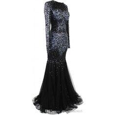 Prom Dresses ❤ liked on Polyvore featuring dresses, long sleeve sparkle dress, longsleeve dress, evening wear dresses, sparkly prom dresses and sheer long sleeve dress