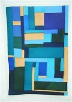 Blues by Loretta Bennett by Gees Bend Quiltmake