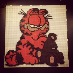 Garfield hama perler beads by aslaugsvava