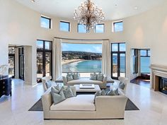 168 Emerald Bay, Laguna Beach, Orange County, California, ocean view living room