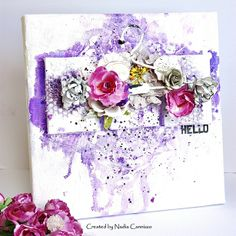 A canvas and cards with The Flying Unicorn Kit Of The Month!