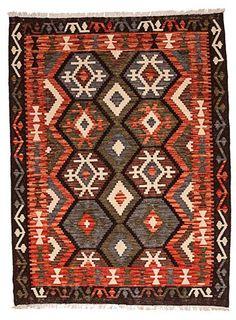 kilim - Kilim Afegão 178x136 cm.