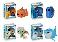 Disney: Finding Nemo Figures – if I were to ever buy a funko pop it would be one of these, Bruce in particular! Disney Pop, Disney Pixar, Disney Movies, Funko Figures, Vinyl Figures, Pop Marvel, Pop Bobble Heads, Funko Pop Dolls, Pop Figurine