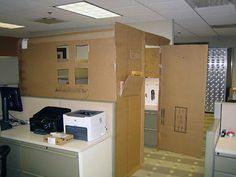 15 Best Cubicle Fort Plans Images Crafts For Kids Office Fun