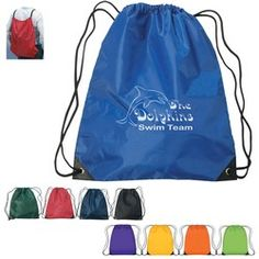 Promotional Backpacks - Large Hit Sports Pack    Drawstring Sports Pack Made Of 210D Polyester Construction With Contrasting Simulated Leather Reinforcement Black Trim At The Corners     Low As $1.99 Each