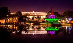 Parliament House lights up ahead of 70th