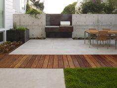 Beton en hout
